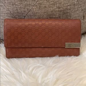 Gucci Leather Guccissima Wallet